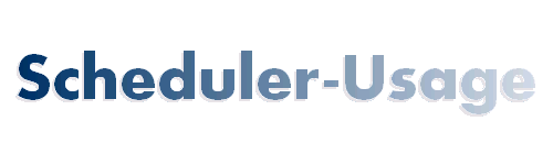 Scheduler-Usage